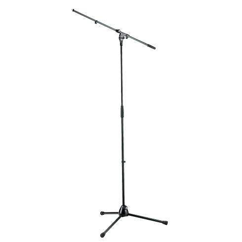 K&M Mikrofonstativ, schwarz, Galgen einteilig