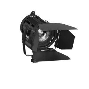 Produktbild eines schwarzen ARRI Scheinwerfers auf weißem Hintergrund